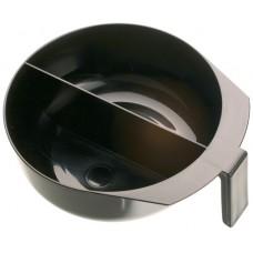 Чаша д/окр черная с ручкой и перегородкой, 2х375 мл T-1207