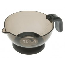 Чаша д/окр DEWAL с резиновой ручкой и носиком черная прозрачная, 360 мл T-09black
