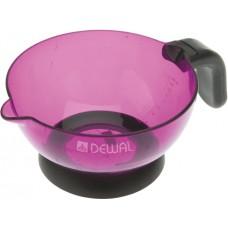 Чаша д/окр DEWAL с резиновой ручкой и носиком фиолетовая прозрачная, 360 мл T-09violet