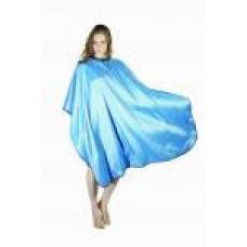 Пеньюар для стрижки голубой «Глянец» DEWAL, 128X146 см AA04Light Blue