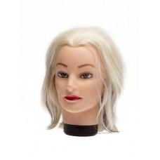 """Голова учебная DEWAL""""блондинка"""", натурал.волосы 20-30 см"""