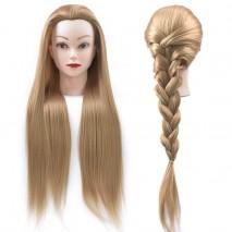 "Голова-манекен ""блондинка"", волосы 50-60 см протеин и штатив"