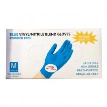 Перчатки нитриловые, Wally Plastic, голубые, размер M, 50 пар