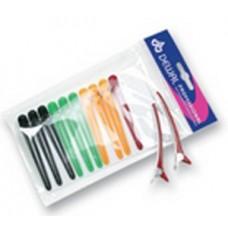 Зажим пласт/металл цветной, 8 см CL2403