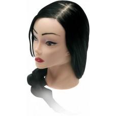 "Голова ""брюнетка"", волосы 50-60 см протеин DEWAL"