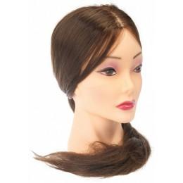 "Голова ""шатенка"", волосы 50-60 см протеин DEWAL"
