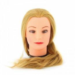 """Голова """"блондинка"""", волосы 50-60 см DEWAL"""